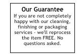 Apthorp Cleaners Guarantee